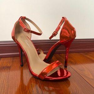 🔶 Red Metallic Heels